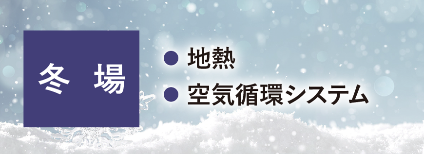 冬場 地熱、空気循環システム