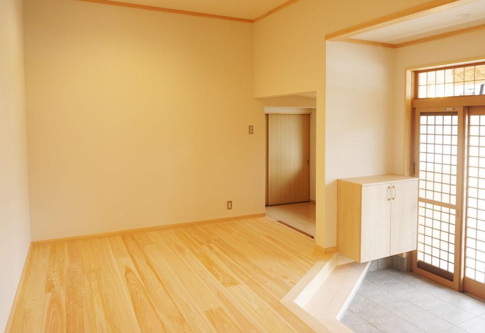 床板や階段に桧を使用